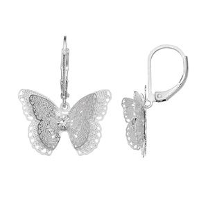 LC Lauren Conrad Filigree Butterfly Earrings